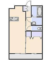 グリシーヌA[1階]の間取り