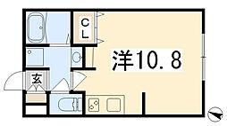 リブフラットポルトゥス[109号室]の間取り