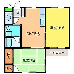 兵庫県神戸市東灘区北青木4丁目の賃貸マンションの間取り