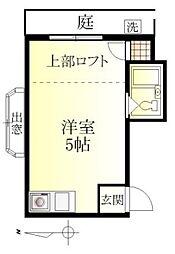 千川ハイツ[107号室]の間取り
