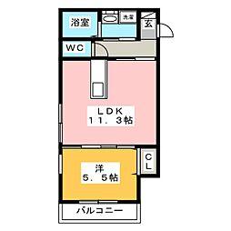 メゾンクラッセ愛宕南[2階]の間取り