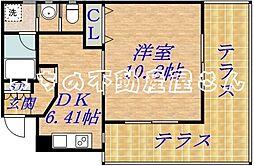 土居マンション[1階]の間取り