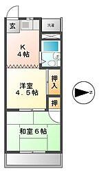 一光荘[2階]の間取り