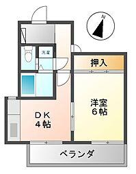 セゾンよもぎ台[5階]の間取り