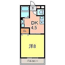 愛知県安城市堀内町阿原の賃貸アパートの間取り