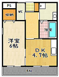 YUWA Seta(ユーワセタ)[401号室]の間取り