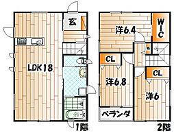 [一戸建] 福岡県北九州市戸畑区浅生2丁目 の賃貸【/】の間取り