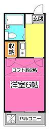 埼玉県新座市大和田4丁目の賃貸アパートの間取り