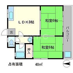 第二京洛[1階]の間取り