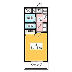 グラウンドスターMI[3階]の間取り
