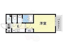 名古屋市営名城線 東別院駅 徒歩11分の賃貸マンション 3階1Kの間取り