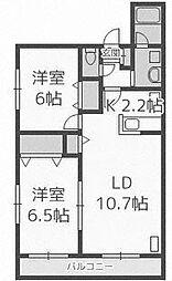 ポコ・ア・ポコ[4階]の間取り