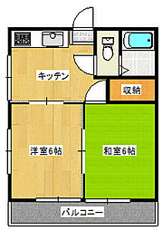陽東4丁目アパート[2階]の間取り