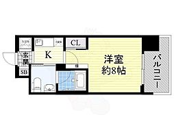 Osaka Metro長堀鶴見緑地線 西大橋駅 徒歩5分の賃貸マンション 2階1Kの間取り