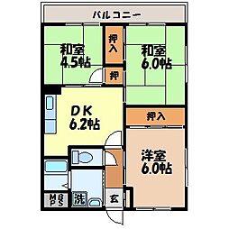 長崎県長崎市音無町の賃貸マンションの間取り