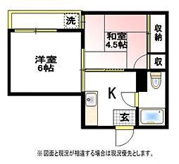 横浜ハイハウス[3階]の間取り
