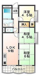 リバーサイドハイツ[3階]の間取り