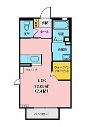 シャーメゾンSAKURA II[102号室]の間取り