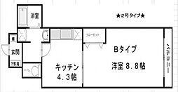 プレアデス本田[802号室号室]の間取り