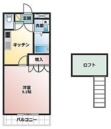 グロリアスガーデン[2階]の間取り
