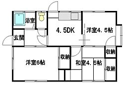 [一戸建] 広島県東広島市西条西本町 の賃貸【/】の間取り