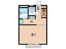 レオパレス田尻I[1階]の間取り