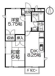 チェリーハウス小和田[2階]の間取り