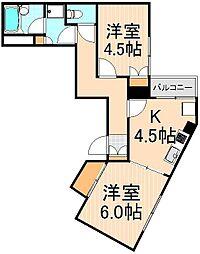 東京都葛飾区東金町3丁目の賃貸マンションの間取り