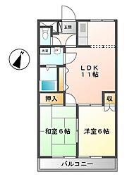 カステルB[2階]の間取り