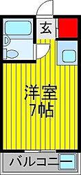 東京都江戸川区平井3丁目の賃貸マンションの間取り