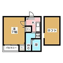 ベネフィスタウン箱崎東6[2階]の間取り