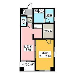 レインボーピア原[2階]の間取り