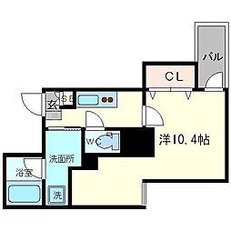 ザ・レジデンス心斎橋[7階]の間取り