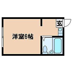 兵庫県明石市東人丸町の賃貸アパートの間取り