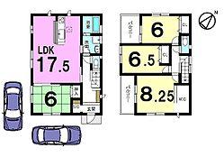 1階は23.5帖の広々空間。2WAYアクセスの便利な立地です。