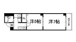 マッケンジー東堀川[602号室]の間取り