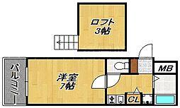 リーセント大手門[3階]の間取り