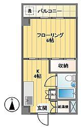 笹塚ダイヤモンドマンション[205号室]の間取り