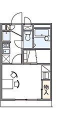 大阪府四條畷市二丁通町の賃貸アパートの間取り