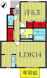 千葉県柏市船戸2丁目の賃貸アパートの間取り