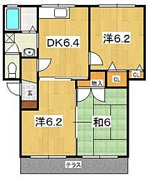 ガーデンコートA(小八幡)[102号室号室]の間取り