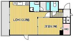 PGM長澤[3階]の間取り
