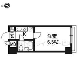 ルピエ四条707号室[7階]の間取り