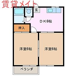 コーポいとう[2階]の間取り