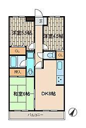 ライオンズマンション相模台第7[1階]の間取り