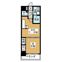 DOMUS21[8階]の間取り