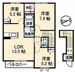 シャーメゾンHIRO[2階]の間取り