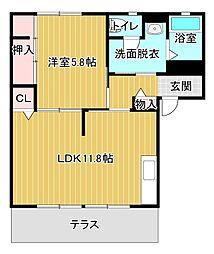 ディア・ステージ A[1階]の間取り