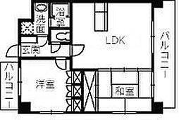 ルネス吉島[4階]の間取り