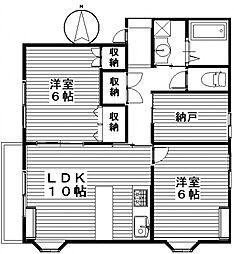 グリーンハイツA[1階]の間取り